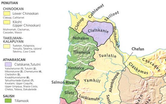 Northwest tribes map.
