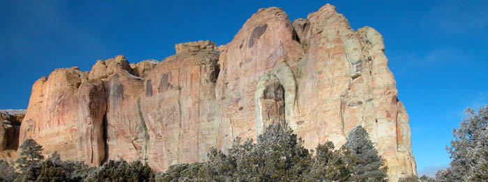 El Morro National Monument, New Mexico by the National Park Service.