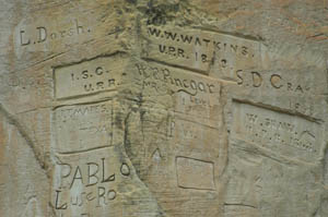 Inscriptions at El Morro National Monument by the National Park Service.