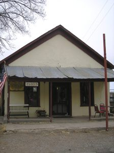 Curry Saloon in Lincoln, New Mexico by Kathy Weiser-Alexander.