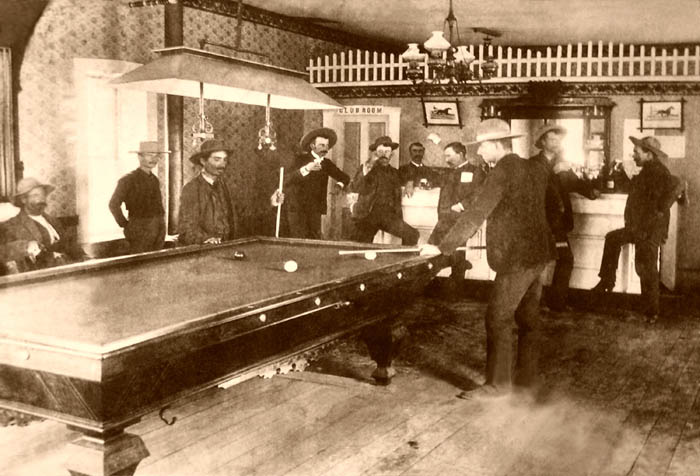 Curry-Thornton Saloon in Lincoln, New Mexico, 1890s.
