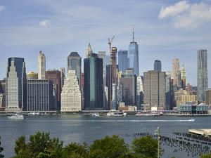Manhattan skyline from Brooklyn, New York by Carol Highsmith.