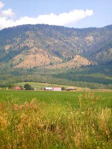 Teton Valley farm in Idaho by Kathy Weiser-Alexander.
