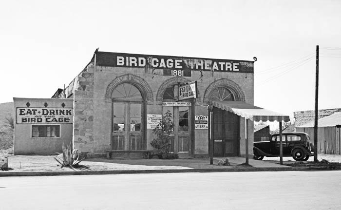Bird Cage Theatre in Tombstone, Arizona, photo by Frederick D. Nichols, 1937.