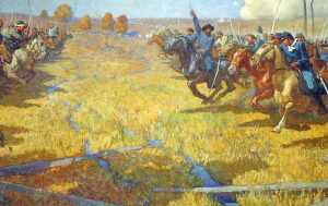 Battle of Westport by Newell Convers.