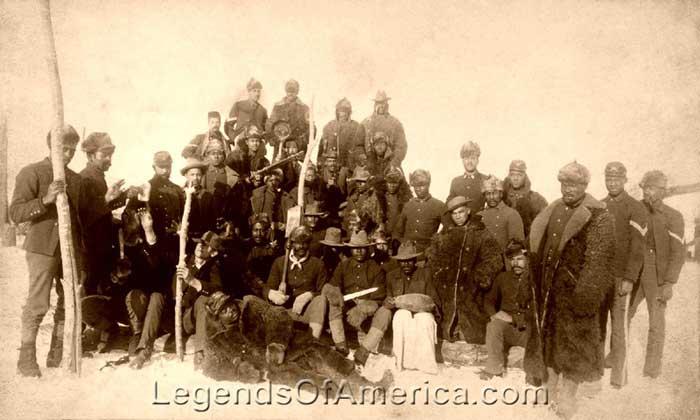 Buffalo Soldiers in 1890.