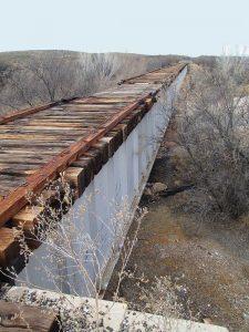 Abandoned railroad bridge near Fairbank, Arizona by Old Pueblo, Wikipedia.