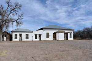 The old commercial building in Fairbank, Arizona has been restored by the Bureau of Land Management.