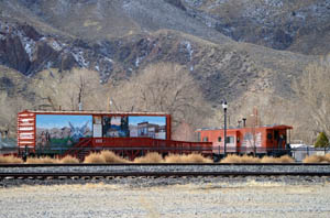 Boxcar Museum in Caliente, Nevada by Dave Alexander.