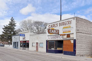 Front Street Building row in Caliente, Nevada by Kathy Weiser-Alexander.