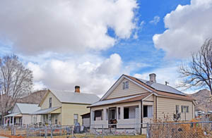 Railroad Row in Caliente, Nevada today by Kathy Weiser-Alexander.