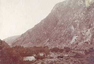 A ranch in Caliente, Nevada in 1900 -- probably the Culverwell Ranch.