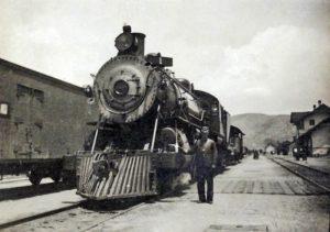 Steam engine in Caliente, Nevvada.