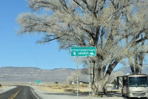Extraterrstrial Highway Sign near Crystal Springs by Kathy Weiser-Alexander.