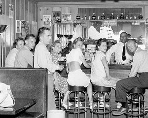 Mead Lodge Bar at Lake Mead in its heydays.