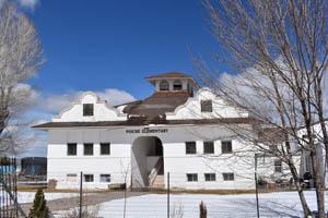 1909 Elementary School in Pioche, Nevada by Kathy Weiser-Alexander.