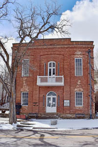 """The """"Million Dollar"""" courthouse in Pioche, Nevada by Kathy Weiser-Alexander."""