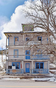 Old Mountain View Hotel in Pioche, Nevada by Kathy Weiser-Alexander.