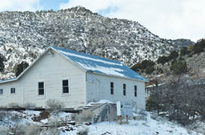 The Stockum House in Pioche, Nevada is one of the oldest buildings in the town by Kathy Weiser-Alexander.