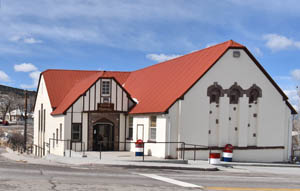 Town Hall in Pioche, Nevada by Kathy Weiser-Alexander.