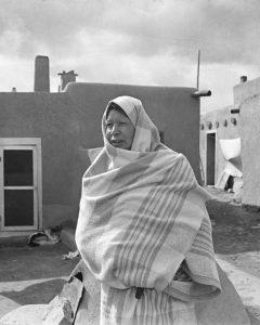 Taos Pueblo woman by Arthur Rothstein, 1936.