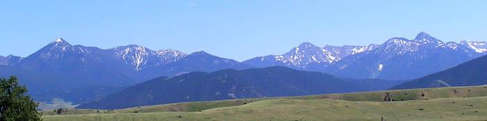 Absaroka Range in Montana.