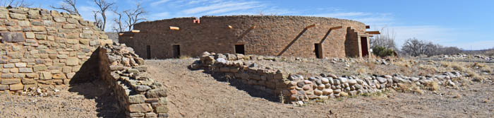 Great Kiva at Aztec Ruins National Monument, New Mexico by Kathy Weiser-Alexander.