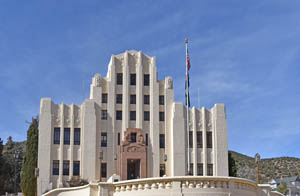 Cochise County Courthouse in Bisbee, Arizona by Kathy Weiser-Alexander.