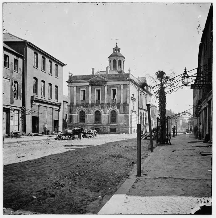 Charleston Exchange Building by G. Barnard 1865
