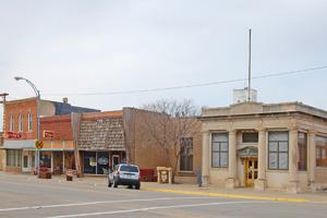 Main Street buildings in Ellsworth, Kansas by Kathy Weiser-Alexander.