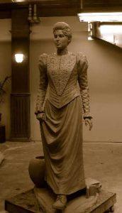 Statue in Las Vegas of Helen Stewart