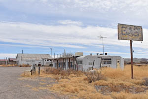 Hachita, New Mexico old business district along the highway by Kathy Weiser-Alexander.