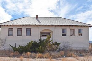 Old grade school in Hachita, New Mexico by Kathy Weiserr-Alexander.