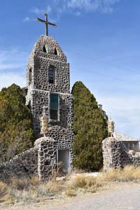 St Catherine Catholic Church in Hachita, New Mexico by Kathy Weiser-Alexander.