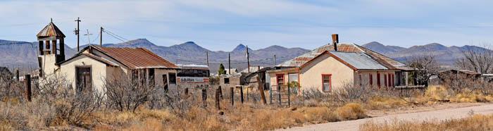 Street in Hachita, New Mexico by Kathy Weiser-Alexander.
