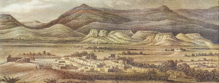 Jemez Pueblo, New Mexico by Richard H. Kern, 1850.