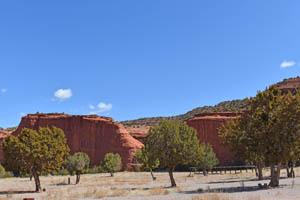 Jemez Pueblo, New Mexico landscape by Kathy Weiser-Alexander.