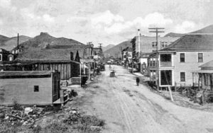 Early day Main Street in Lowell, Arizona.
