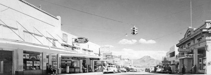 Street in Lowell, Arizona in the 1950s.