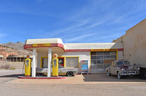 Restored Shell Station in Lowell, Arizona by Kathy Weiser-Alexander.