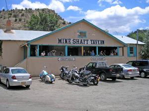 Mine Shaft Tavern, Madrid, New Mexico by Kathy Weiser-Alexander.