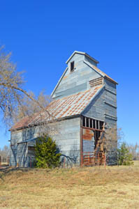 Old Silo in May, Oklahoma by Kathy Weiser-Alexander.