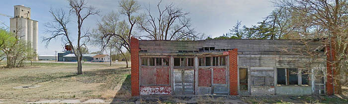 May, Oklahoma is a semi ghost town in Harper County. Image courtesy Google Maps.
