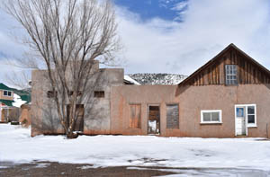 Old business buildings in Ocate, New Mexico by Kathy Weiser-Alexander.