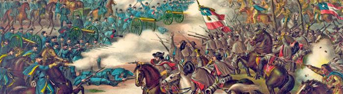 Battle of Pea Ridge, Arkansas by Kurz and Allison.