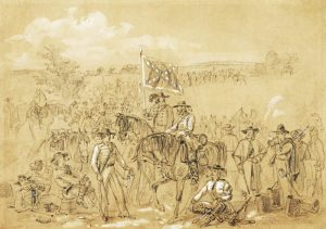 Confederate Cavalry by Alfred R. Waud.