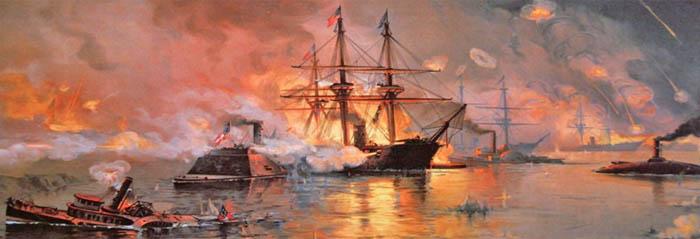 Farragut captures New Orleans by Julian Oliver Davidson.