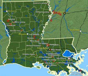 Civil War Battles in Louisiana.