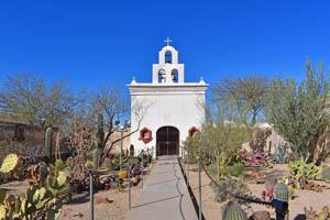 San Xavier Del Bac, AZ -Chapel by Kathy Weiser-Alexander.