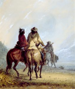 Trappers hunting beaver by Alfred Jacob Miller.
